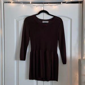 Dark brown long sleeve top